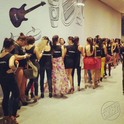 You could just imagine how long the queue of models behind the runway